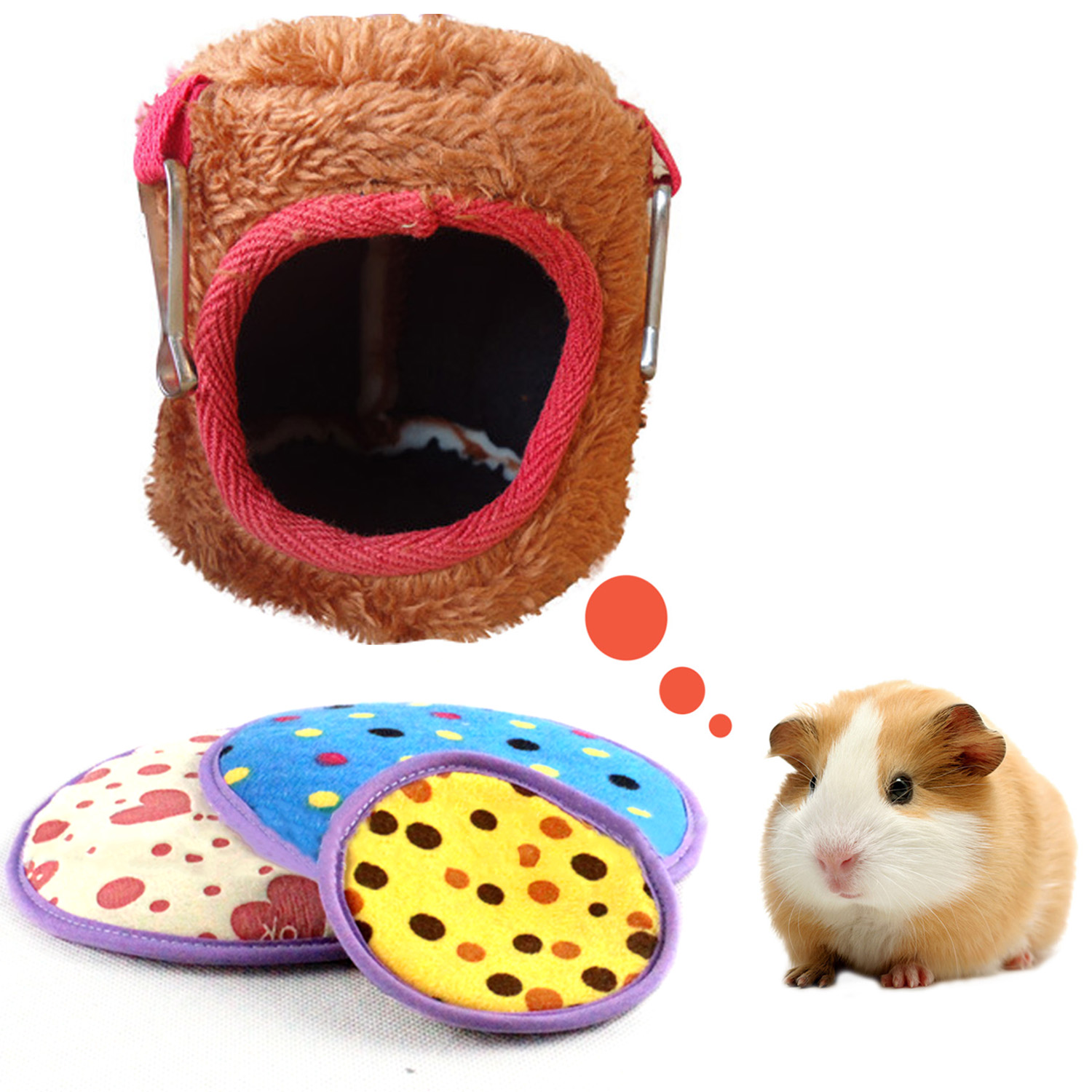 Nest Pad for Hamster Hammock Bed Tree House Rat Bird Squirrel Pet Cage Nest Hut 10 x 10cm(China (Mainland))