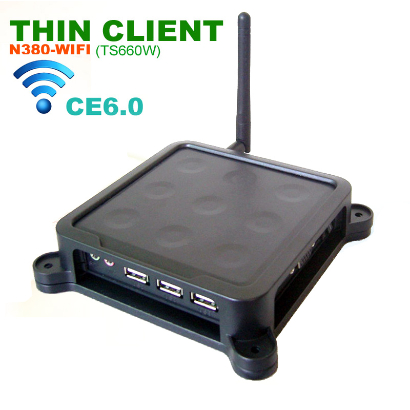 N380 W ( TS660W ) WIFI Thin Client CE 6.0 Mini Cloud Terminal Computer Turn 1 PC to Multiple fit Library teaching cost savings(China (Mainland))