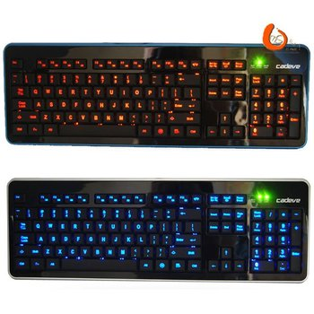 100% Original Genuine Cadeve 6000 USB Wired LED Changeable background lighting Computer Gaming Keyboard Free Shipping