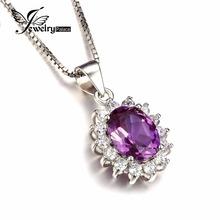 3ct Alexandrite Sapphire Pendant Charm Luxury Princess Diana William Engagement Wedding Genuine 925 Sterling Silver Jewelry Gift(China (Mainland))