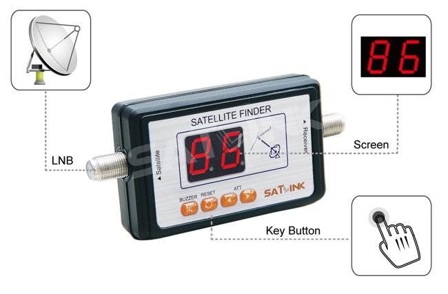 Satlink WS-6903 mini Satellite Finder,digital satellite finder meter(China (Mainland))