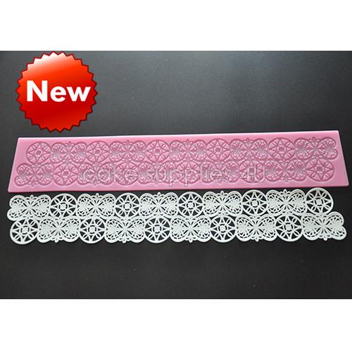 Silicone fondant lace mat,cake lace mould,cake decor supplies, cake decoration tools, cake border silicone mat free shipping(China (Mainland))