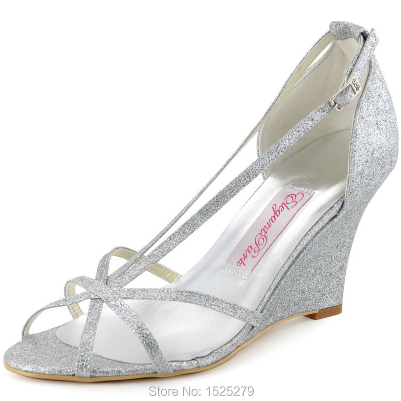 popular silver wedges for bridesmaids buy cheap silver