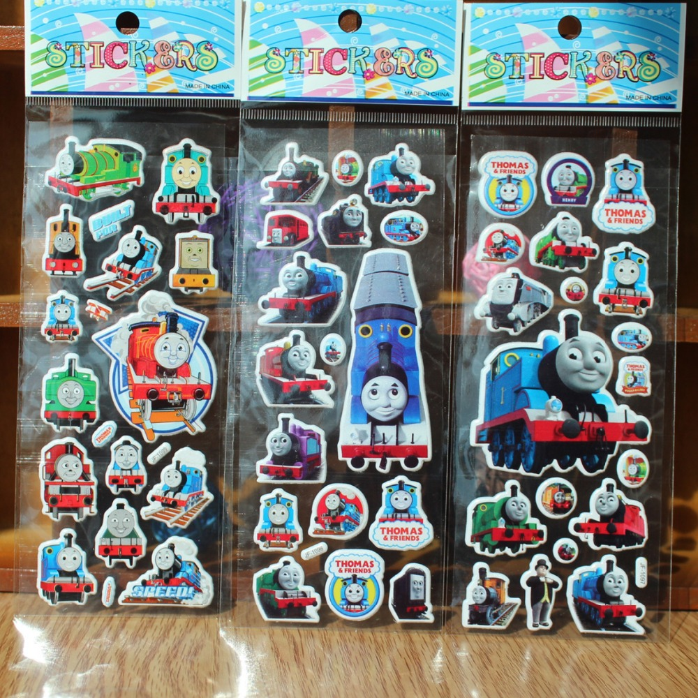 thomas 3D cartoon puffy stickers birthday party favor(China (Mainland))