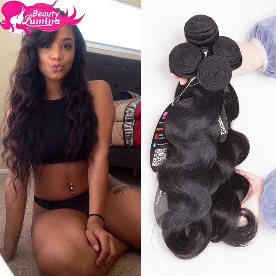 HOT SALE Brazilian Virgin Hair Body Wave,6A Unprocessed Virgin Brazilian hair Body Wave Hair Extension 3pcs/lot Human Hair Weave