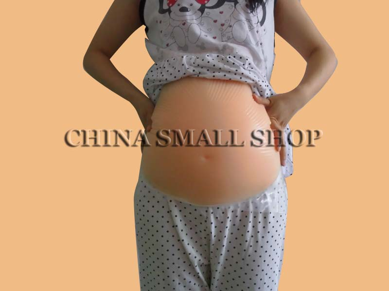 Drop shipping  silicon4~5 months belly1500g A pregnant woman Multiple births Fake belly False pregnancy<br><br>Aliexpress