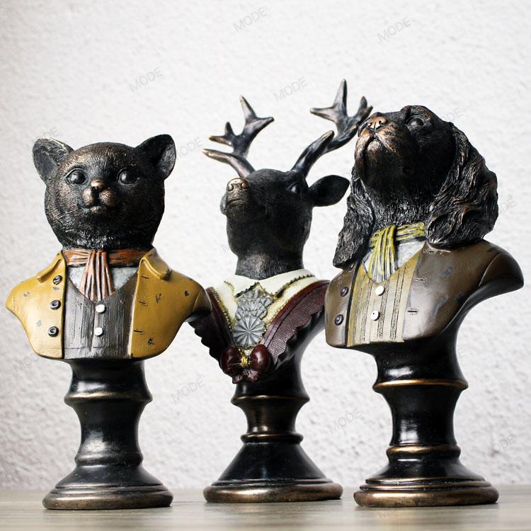 acheter vintage vieux monsieur chien chat cerfs figurine haut de gamme. Black Bedroom Furniture Sets. Home Design Ideas