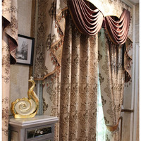 Free shipping luxury Living room bedroom blackout fabrics thicker insulation curtains+tulle customize