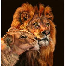 DIY 5D diamond embroidery tiger lion pattern full rhinestones pasted painting cross-stitch kits mosaic hobby crafts - Maggie Beauty Home Decoration store