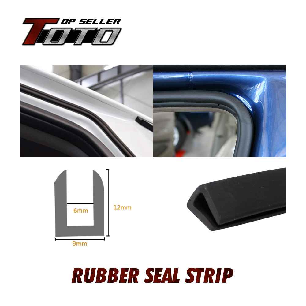 """12x9mm U Channel Seal Trim Strip Sound Pillar 39"""" 100cm Black Door Edge Interior Exterior flexible Rubber weatherstrip 63#(China (Mainland))"""
