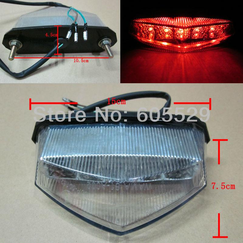 LED Tail Brake Light For Suzuki ATV LTZ King Quad Runner RM DS DR DRZ 400 650 2style 1pcs Free Shipping(China (Mainland))