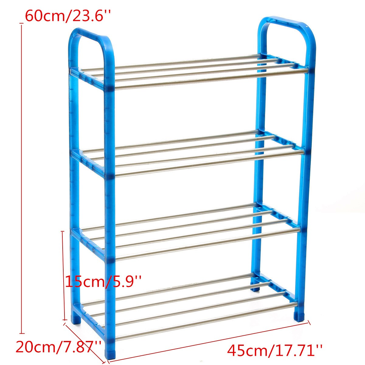 NEW Fashion Portable Stainless Steel ABS 4 Tier Layer Shoe Tower Rack Shelf Cabinet Stand Space Saving Organiser Storage(China (Mainland))