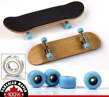 100pcs/lot 4 Color 2015 Professional Maple Wood Finger Skateboard Alloy Stent Bearing Wheel Fingerboard Adult Novelty Toy(China (Mainland))