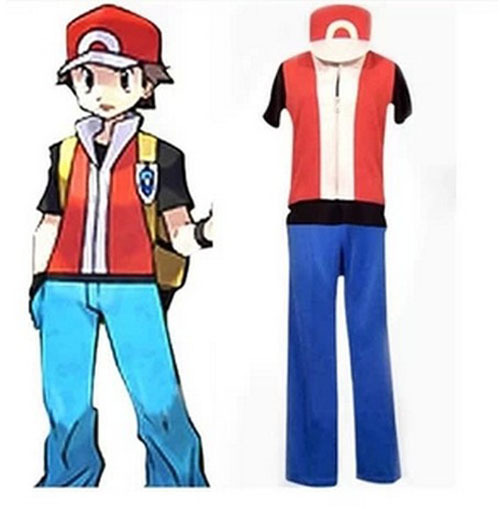 2015 pokemon trainer red cosplay costume in clothing from novelty special use on aliexpress. Black Bedroom Furniture Sets. Home Design Ideas