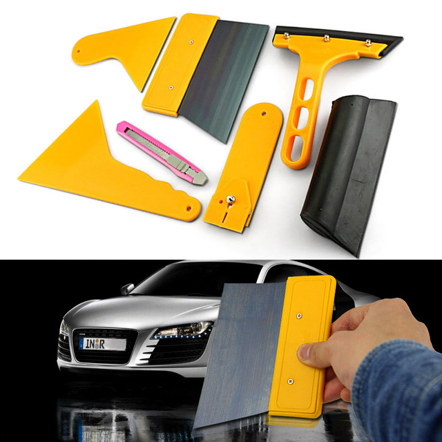 7pc Car Window Tint Tools Kit Set Film Tinting Scraper Application Squeegee Cleaning sticker Hand wrapping tool AY033(China (Mainland))