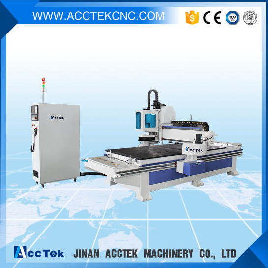 automatic wood carving machine loading and unloading panel furniture production(China (Mainland))