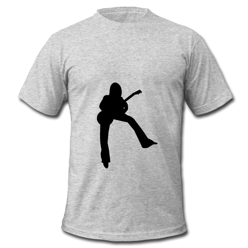 Mans Tee Shirt Regular Guitar Player Custom Tshirts For