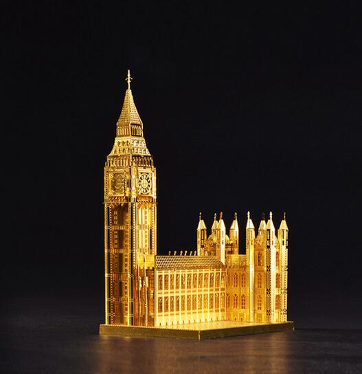 Metal Earth 3D Metal Puzzle juguetes educativos Big Ben Jigsaw Scale Models educational toys puzzles for children/adults(China (Mainland))