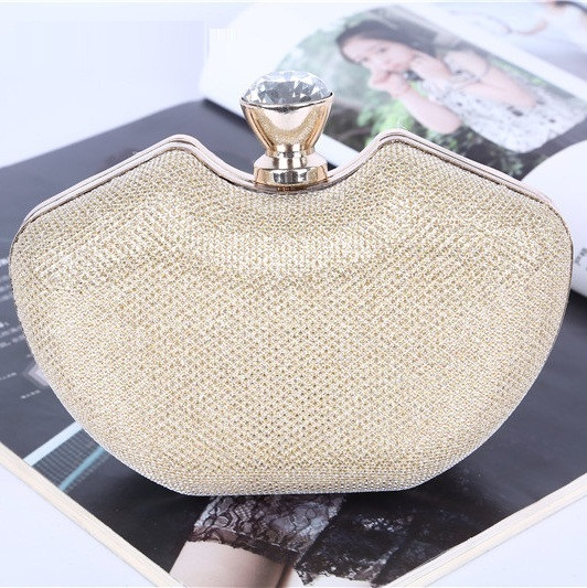 DHL Free Shipping Nest Mesh Evening Bags Women Handbags Euro Style Handmade Apple Clutch Hand Bag Unique Open Cover Mode Chains(China (Mainland))