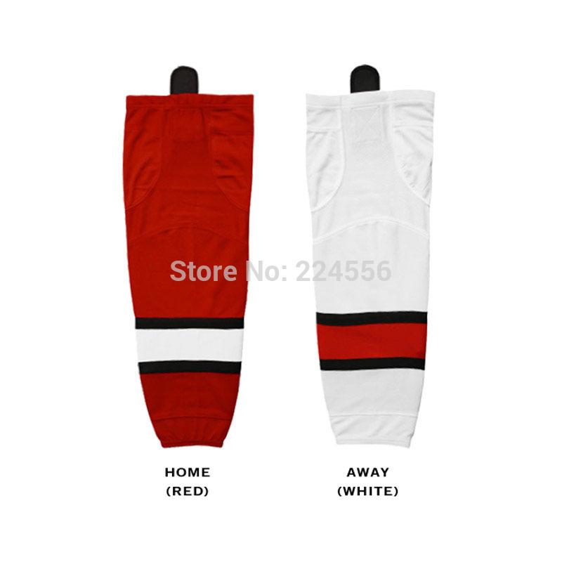 Mens carolina hurricanes adult ice hockey socks youth home/away hockey socks Equipment Team - Custom Any Team & Color & Size(China (Mainland))