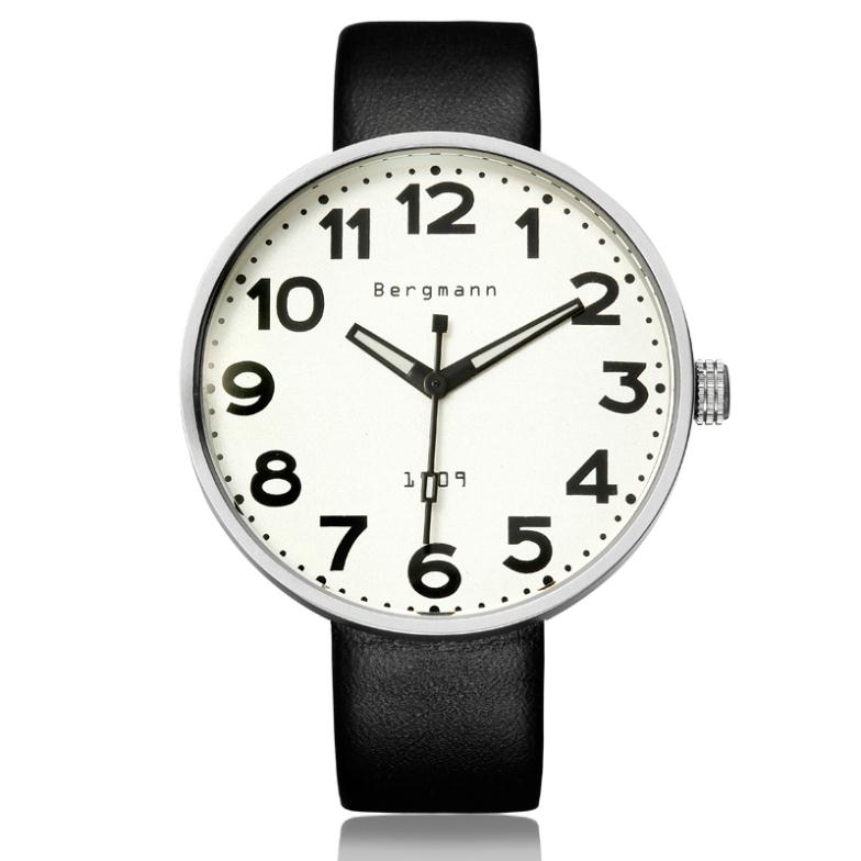 Bergmann Famous Brand Fashion Designer Watches Men Women Wristwatches Large Scale Number Gift Clock Relojes De Marca 1909<br><br>Aliexpress