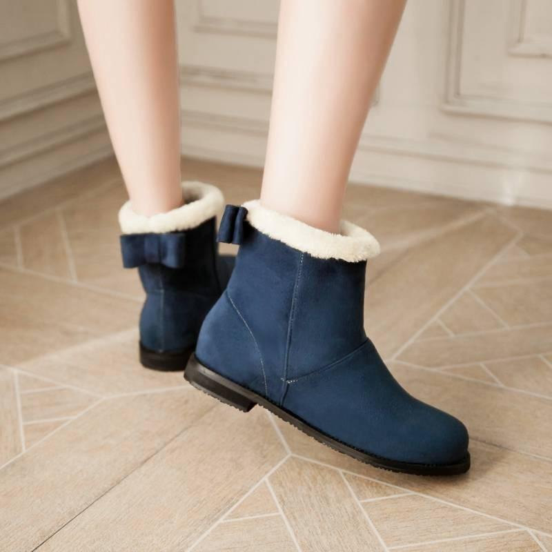 ซื้อ พลัสSize34-43 2016แฟชั่นใหม่ผู้หญิงบู๊ทส์5สีฤดูใบไม้ร่วงส้นรองเท้าข้อเท้าขนฤดูหนาวรองเท้าหิมะกลางแจ้งSBT2787