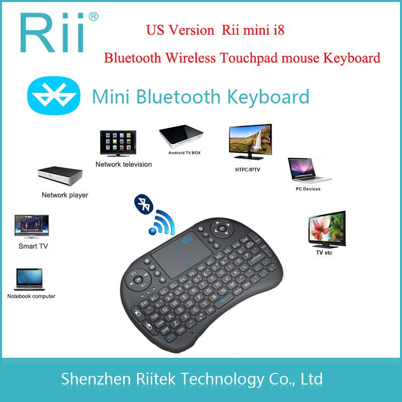 Free shipping Rii mini i8 K08 Bluetooth Wireless keyboard Touchpad mouse gamer tecaldo sem fio for PC laptop Tablet Smart TV Box(China (Mainland))