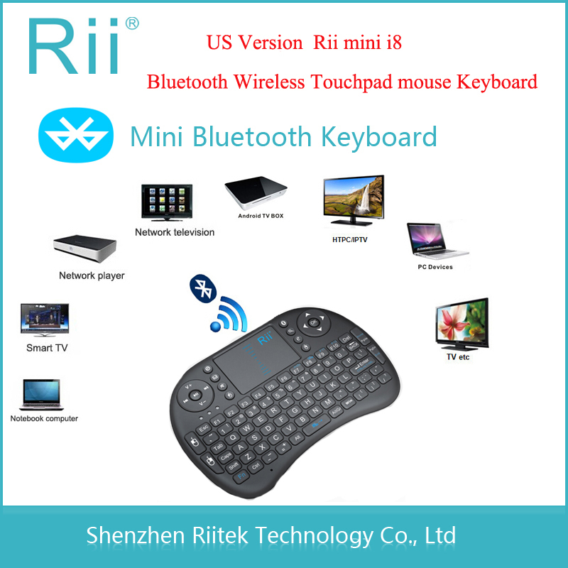 Free shipping Rii mini i8 K08 Bluetooth Wireless keyboard Touchpad mouse gamer tecaldo sem fio for PC laptop Tablet Smart TV Box(China (Mainland))