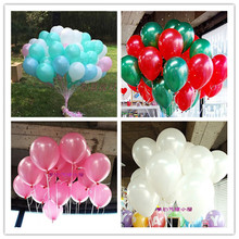 100pcs/lot 10 inch1.2g Latex balloon Helium Round balloons 16colors Thick Pearl balloons Wedding Party Birthday Balloons