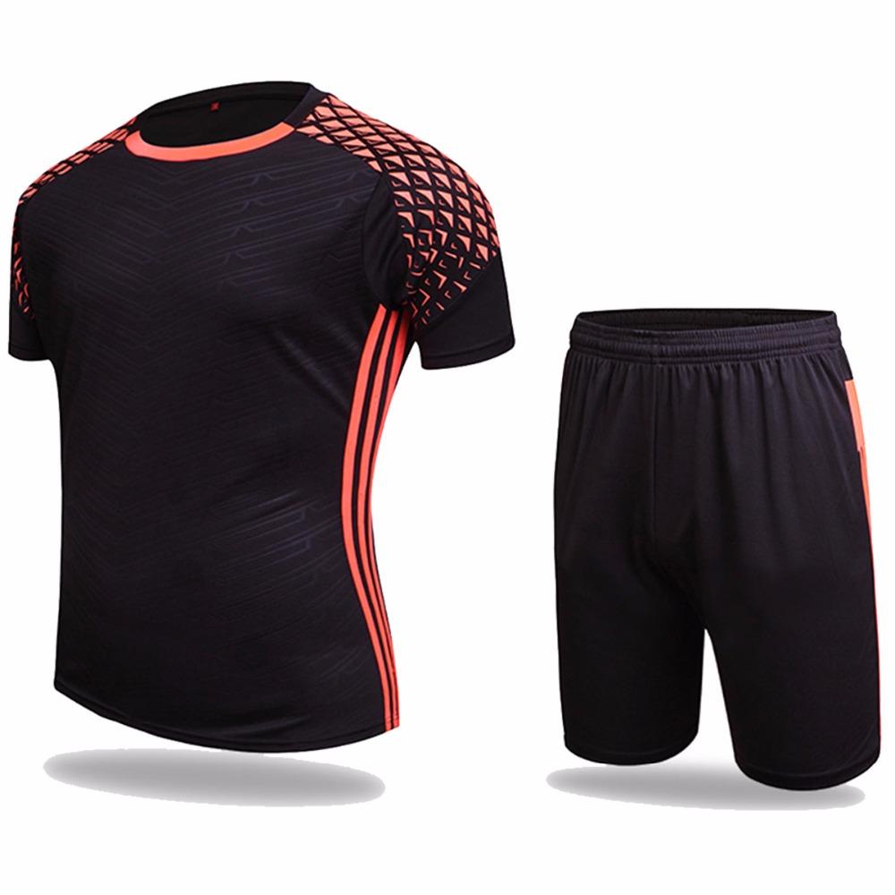 Football jerseys 2016 new summer paintless football jerseys men boys soccer training tracksuits jerseys customizable sportskits(China (Mainland))