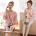 100 cotton maternity sleepwear thermal Pregnant women pajamas Maternal postpartum fashion out nursing