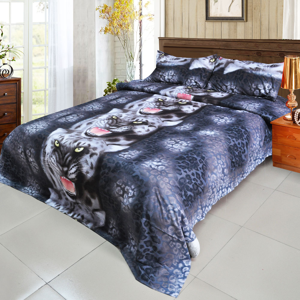 3d Galaxy bedding sets Twin/Queen Size Black Tiger 3pcs/4pcs Bed Linen Bed Sheets Duvet Cover Set(China (Mainland))