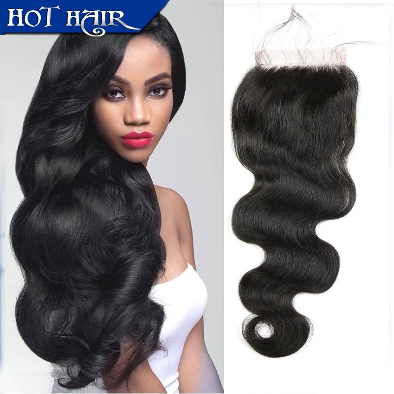 4*4 Blench Knots Closure 6A Grade Peruvian Lace Closure Unprocessed Body Wave Virgin Hair Lace Closure Middle Part Three Part <br><br>Aliexpress