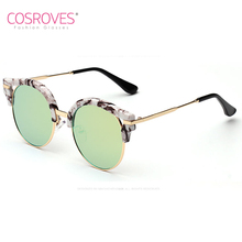 Women's Sunglasses Alloy Unique Round Frame Glasses Vintage Goggles Elegant Colorful UV 400 Protection Shade SG15017