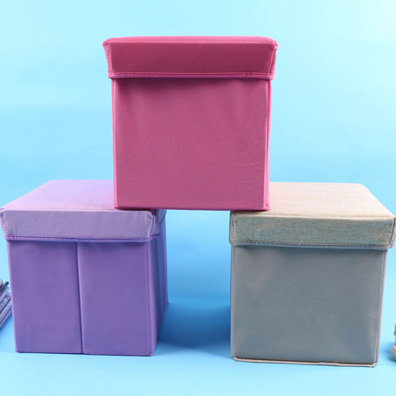 31*31*31 CM Square Multi-functional Storage Box Linen Cloth Storage Chair Toys Organizer Sundries Storage Stool(China (Mainland))