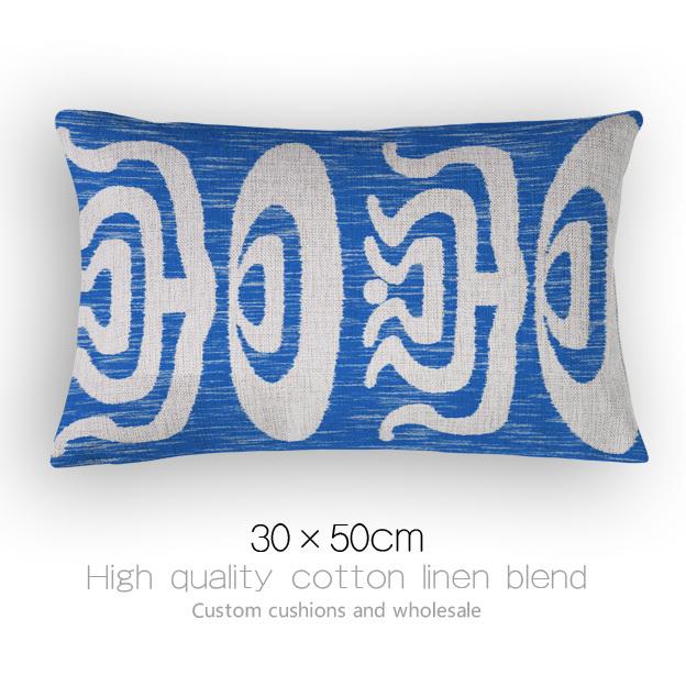 Custom made Blue Ethnic style Cushions Home Decor printing pattern Sofa Cushion creative stylish Cushions For