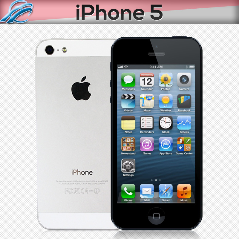 Original Unlocked Apple iPhone 5 Cell Phones Dual Core 16/32GB 8MP Camera 4.0 inches WIFI GPS 3G IOS Mobile phone(China (Mainland))