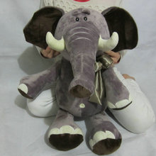 Buy 45/60cm high elephant plush toys bowtie elephant doll stuffed PP Cotton Brown animals doll birthday gift kids pillow ) for $13.99 in AliExpress store