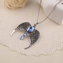 Hogwarts school eagle badge big stone pendant necklace
