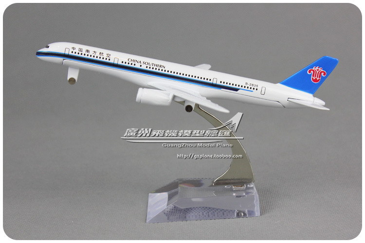 16cm 1:300 China Southern Airlines Plane Model Boeing B757 B-2835 Alloy Airplane Model Kids Toy Gift Collections Free Shipping(China (Mainland))