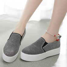 2015 new fashion canvas women loafer shoes chinoiserie style comfortable shoe Height Increasing female sneakers LP87266-1