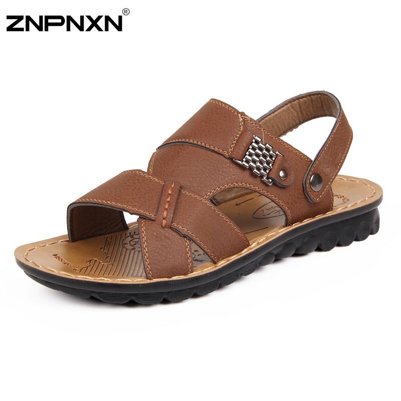 Men Sandals New Summer Beach Slippers Men Casual Fashion Leather Loafers Man Shoes Brand Leisure Sandalias Fast Shipping
