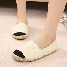 New Fashion Women s Espadrille Slip On Boat Flat Shoes Weave Casual Canvas Sneakers Woman Shoes
