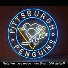 Pittsburgh Penguins Handcrafted Neon Light Sign Neon Bulbs Beer Pub Store Display Real Glass Tube Handcraft Advertising 24×24