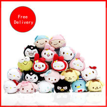 Mini Tsum sanrio set Hello Kitty Princess Alice Plush Toys small Pendant pelucia brinquedos toys children - Perfectdesires China's toy store