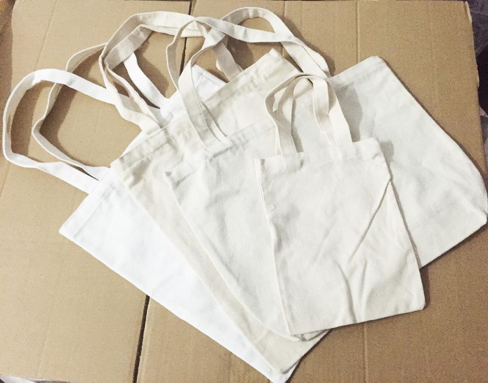 200pcs/lot 12oz cotton Blank plain white eco cotton bag,DIY reusable canvas shopping bag can customiz logo for advertisements(China (Mainland))