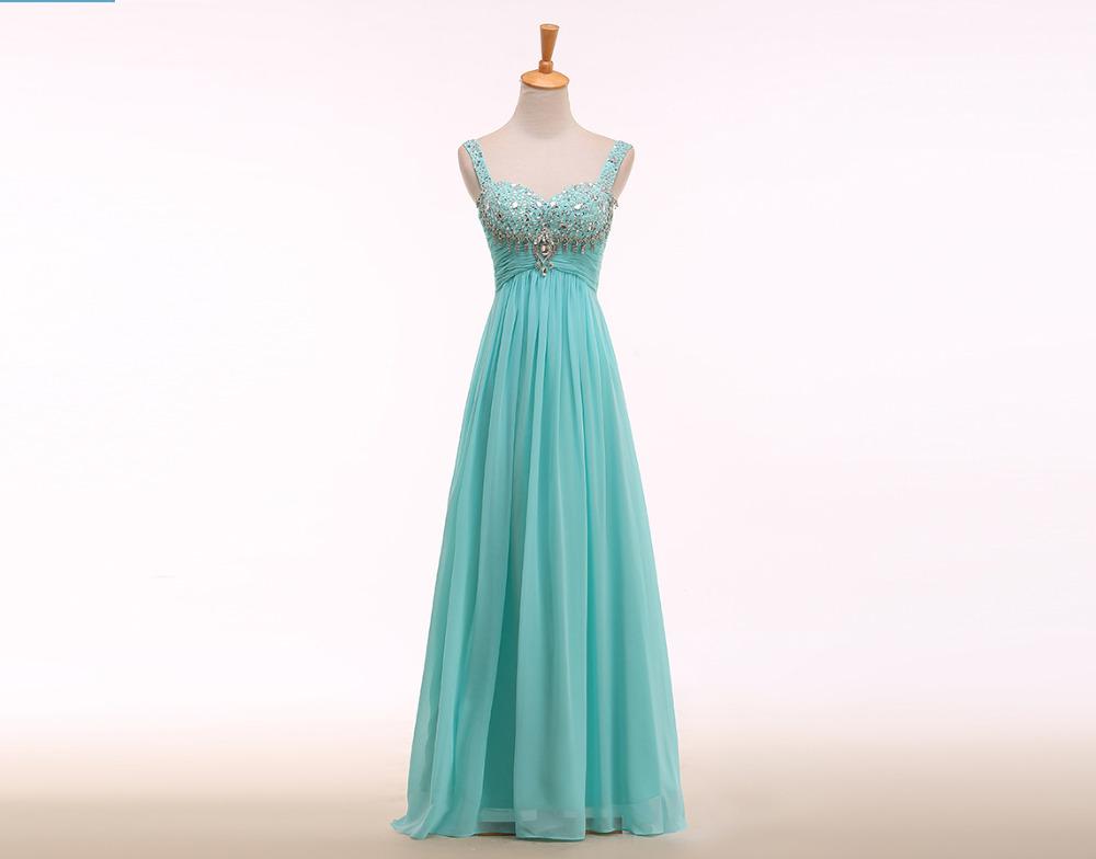 2015 new style sweetheart light blue beach long chiffon for Light blue beach wedding dress