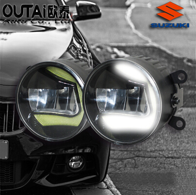 Фотография High Power Highlighted Car Fog lamps lens Fog Light LED daytime running light For Suzuki Shang yue 2pcs