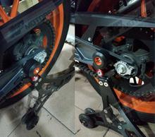 New Arrived Motorcycle Rear Swingarm Crash Pad Frame Slider For KTM 125 200 390 Duke 2011