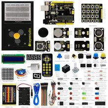 Buy New Keyestudio Updated Maker learning kit /Starter kit arduino starter +UNOR3+ 1602LCD servo+Chassis+PDF projet for $42.75 in AliExpress store